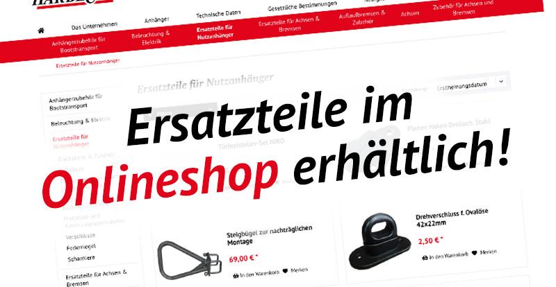 Ersatzteile für den Anhänger bei Harebck GmbH & Co. KG
